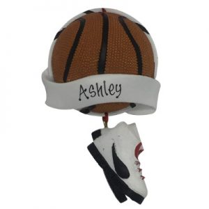 Basketball Banner Personalized Christmas Ornament