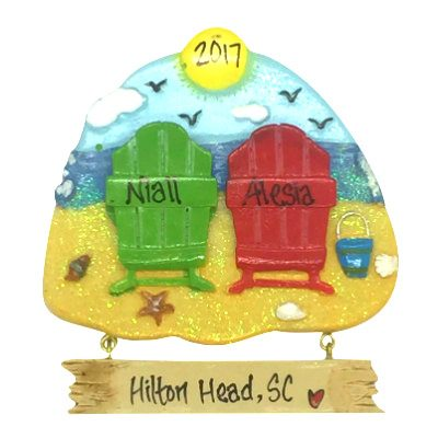Beach Chair Couple Personalized Ornament