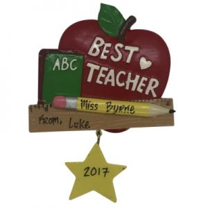 Best Teacher Personalized Christmas Ornament