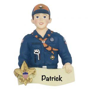 Boy Scout Cub Scout Personalized Christmas Ornament