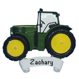 John Deere Tractor Personalized Christmas Ornament