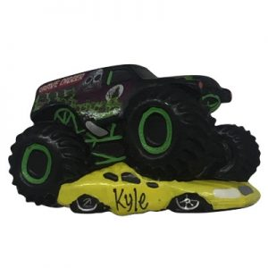 Monster Jam Grave Digger Personalized Christmas Ornament