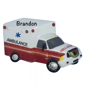Ambulance Personalized Christmas Ornament