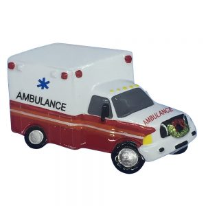 Ambulance Personalized Christmas Ornament - Blank