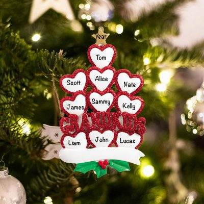 Personalized Grandkids 10 Christmas Ornament