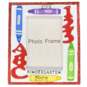 Kindergarten Photo Frame Personalized Christmas Ornament