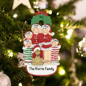 Personalized Christmas Family of 5 Christmas Family