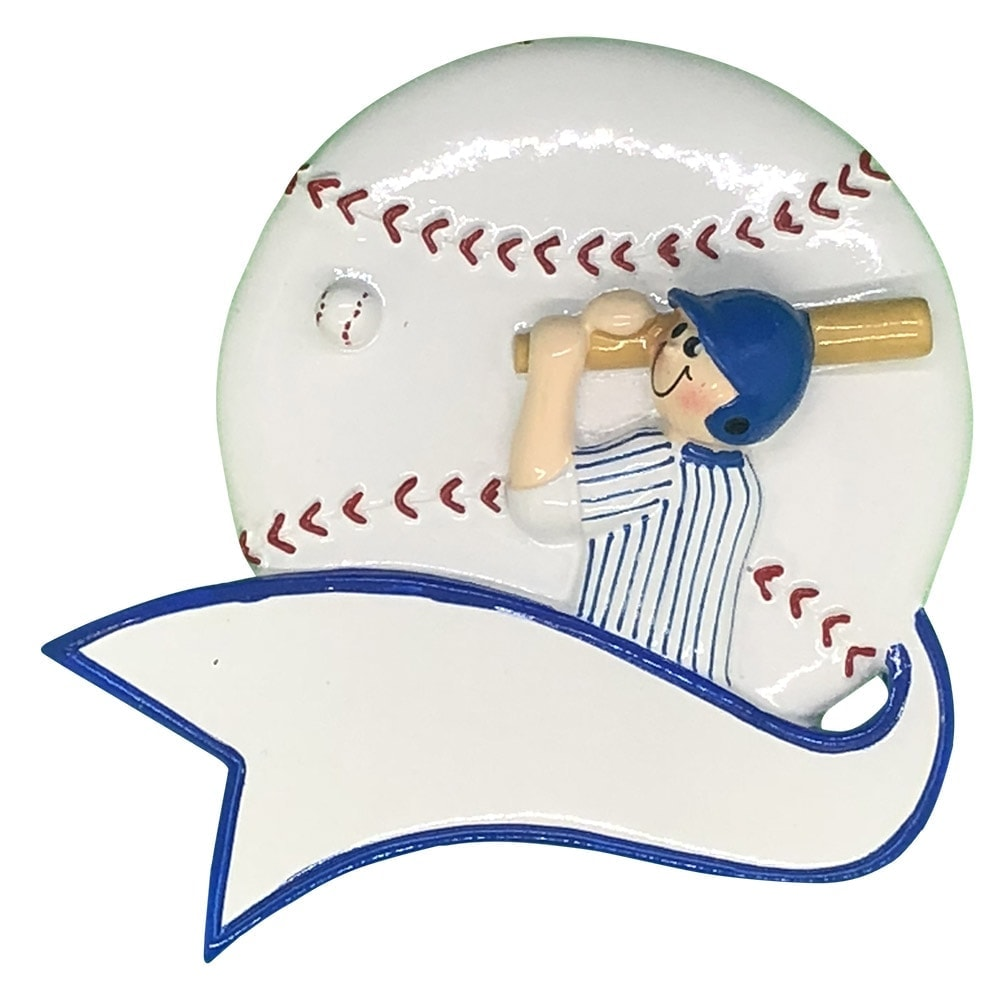 Baseball Boy Swing Personalized Ornament - FREE ...