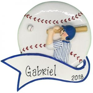 Baseball Boy Swing Personalized Ornament