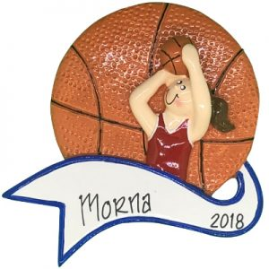 Basketball Shot Girl Personalized Ornament