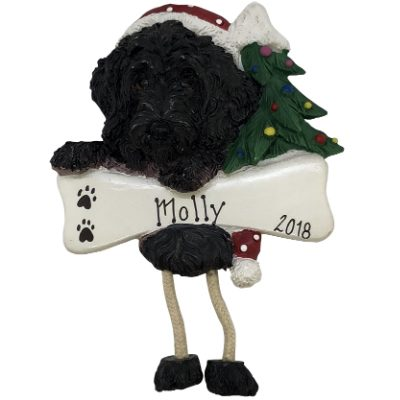 Labradoodle - Black Personalized Ornament