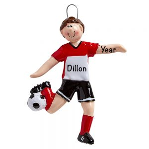 Soccer Guy Personalized Christmas Ornament