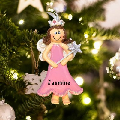 Personalized Princess Fairy Brown Christmas Ornament