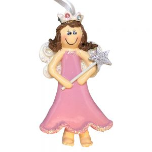 Princess Fairy Personalized Christmas Ornament - Blank