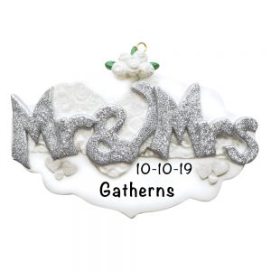 Mr and Mrs Wedding Personalized Christmas Ornament