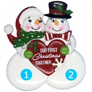 Our 1st Christmas Together Snow Couple Personalized Ornament