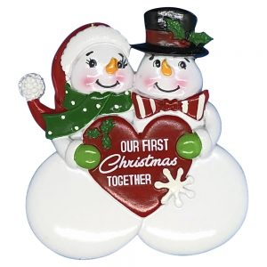 Our 1st Christmas Together Snow Couple Personalized Christmas Ornament - Blank