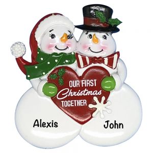 Our 1st Christmas Together Snow Couple Personalized Christmas Ornament