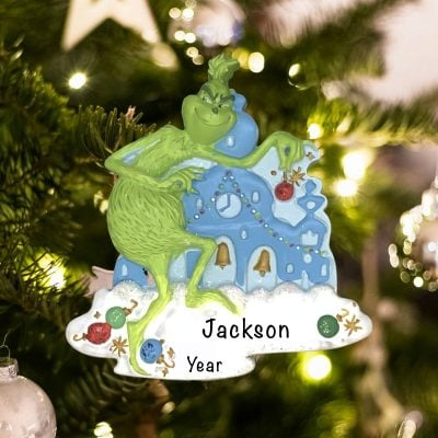 Personalized The Grinch Christmas Ornament