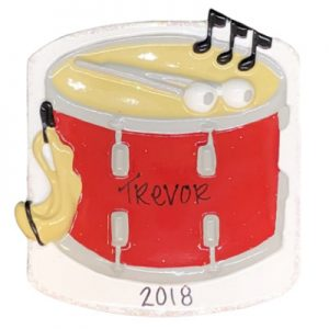 Snare Drum Personalized Ornament