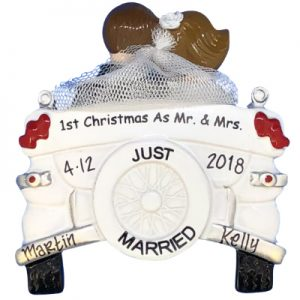 1st Christmas As Mr. and Mrs. Personalized Ornament
