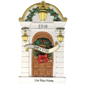 Our New Home Holly Door Personalized Ornament