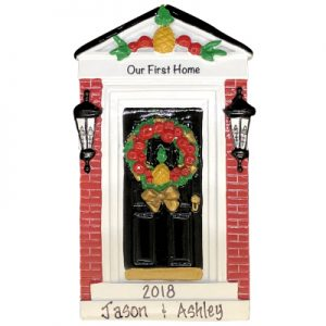 Our First Home Colonial Door Personalized Ornament