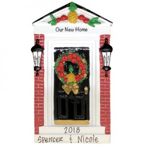Our New Home Colonial Door Personalized Ornament