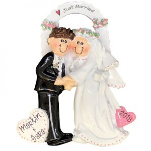 Wedding Couple Arch Just Married Personalized Ornament