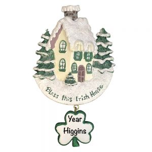 Irish House Personalized Christmas Ornament