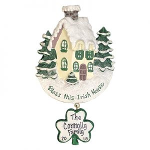 Bless This Irish House Personalized Ornament