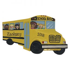 School Bus Personalized Ornament