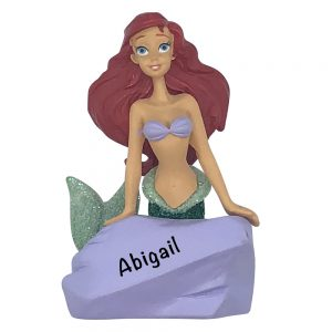 Ariel Disney Personalized Christmas Ornament