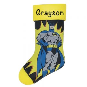 Batman Stocking Personalized Christmas Ornament