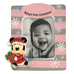 Minnie Mouse Baby's 1st Christmas Photo Frame Personalized Christmas Ornament - Blank