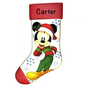 Mickey Mouse Disney Stocking Personalized Christmas Ornament Blank