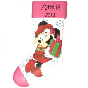 Minnie Mouse Stocking Personalized Ornament