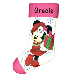 Minnie Mouse Disney Stocking Personalized Christmas Ornament