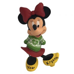 Minnie Mouse Disney Personalized Christmas Ornament