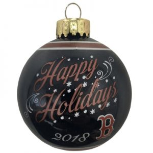 Boston Red Sox MLB Glass Ball Christmas Ornament