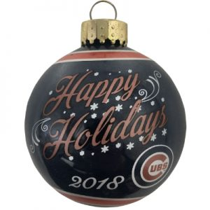 Chicago Cubs MLB Glass Ball Christmas Ornament