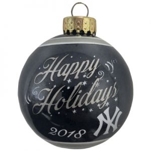 New York Yankees MLB Glass Ball Christmas Ornament