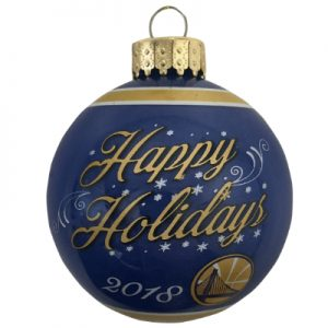 Golden State Warriors NBA Glass Ball Christmas Ornament
