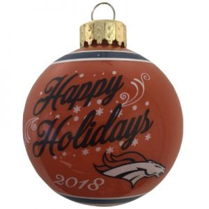 Denver Broncos NFL Glass Ball Christmas Ornament
