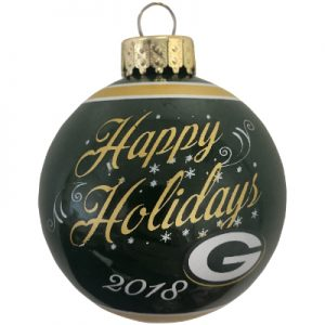Green Bay Packers NFL Logo Christmas Ornament