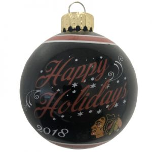Chicago Blackhawks NHL Glass Ball Christmas Ornament