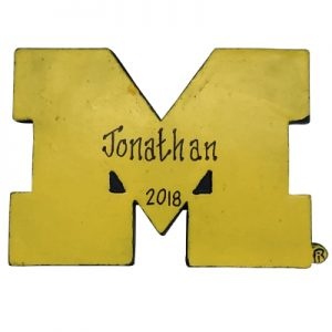 Michigan Wolverines NCAA Logo Christmas Ornament