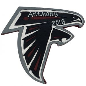 Atlanta Falcons NFL Logo Christmas Ornament