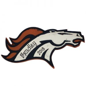 Denver Broncos NFL Logo Christmas Ornament