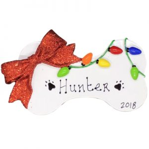 Dog Bone Christmas Personalized Ornament